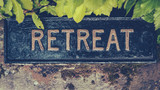 Fototapety Spiritual Retreat Sign
