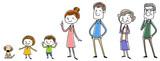 イラスト素材:家族 セット  - 112684474