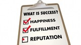 Success Checklist Happiness Fulfillment Words 3d Animation