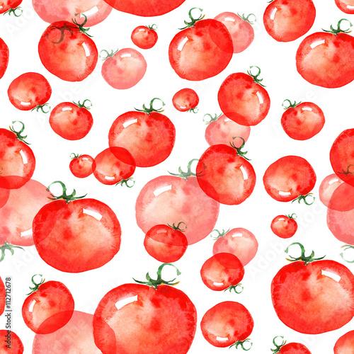vintage-wzor-na-bialym-tle-warzywa-czerwone-pomidory-pomidory-cherry-akwarela