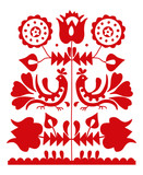 Slavic folk ornament from Slovakia - 112715404