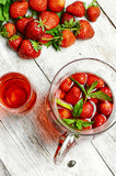 Cool strawberry compote