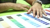 selecting colors on the color chart