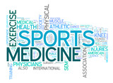 Sports Medicine collage of word concepts