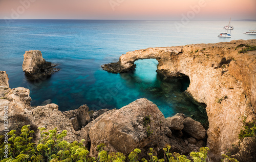 Aluminium Cyprus Beautiful beach view. Beautiful natural rock arch in Ayia Napa on Cyprus island
