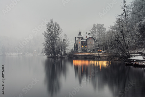 Bled lake in the morning, Slovenia Plakat