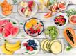 Preparing a healthy fruit salad - 112801665