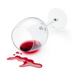 red wine spilling