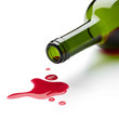 spilling red wine