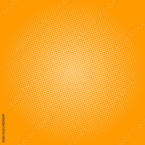 Fotobehang Pop Art Pop Art Background, Dots on Yellow Background,Halftone Background, Retro Style, Vector Illustration