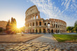 Quadro Colosseum in Rome and morning sun, Italy