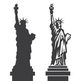 New York Statue of Liberty Vector silhouette poster