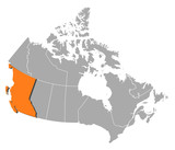 Map - Canada, British Columbia