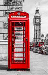 Budka telefoniczna czerwona Londyn