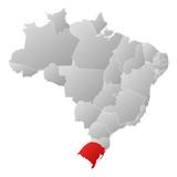 Map - Brazil, Rio Grande do Sul