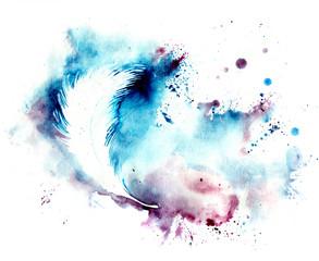 silhouette of  feather © okalinichenko