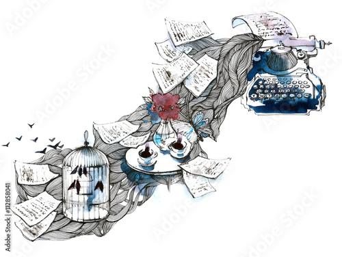 Spoed canvasdoek 2cm dik Schilderingen inspiration