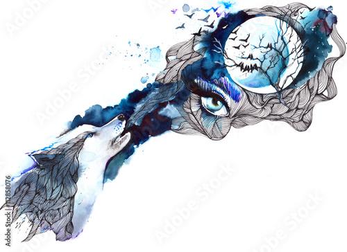 Papiers peints Peintures wolf