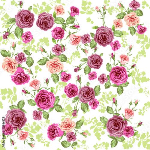 Fototapeta Spring floral pattern