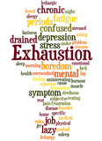 Exhaustion, word cloud concept 5