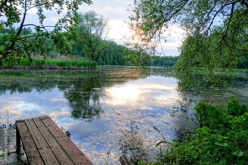 Fototapeta Jetty on the River
