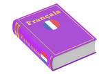 Fototapety French language textbook, 3D rendering
