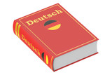 German language textbook, 3D rendering
