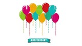 balloons party design, Video Animation