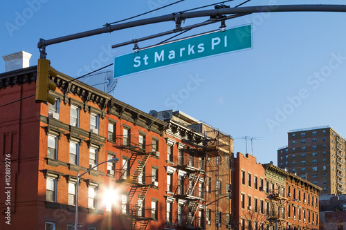 St. Marks Street Scene in Manhattan, New York City