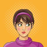 People design. Pop art icon. Retro and Colorfull illustration
