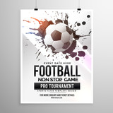 football soccer game tournament flyer brochure template - 112893688