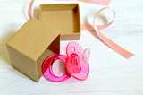 Pink dummy in the gift box