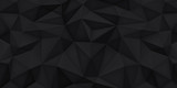 Low polygon shapes background, triangles mosaic, vector design, creative background, templates design, black background