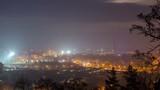night city, 4K panoramic time-lapse, Vilnius Lithuania