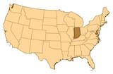 Map - United States, Indiana