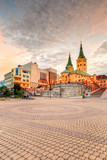 Main square in the city of Zilina in central Slovakia. HDR image