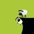Schafe am Abgrund