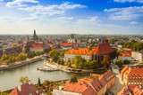 Old town cityscape panorama, Wroclaw, Poland