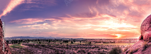 Deurstickers Arizona Beautiful colorful sunset over Phoenix,Az,USA
