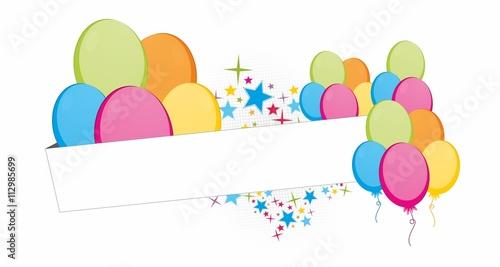 Urodzinowe kolorowe balony  - 112985699