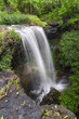 Sunderland Falls, a waterfall in Vandalia Ohio, plunges over a forty foot cliff after a spring downpour.