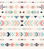 Aztec pattern. Seamless pattern with geometric elements.