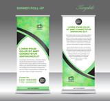 Green banner stand template, stand design,banner template, Green