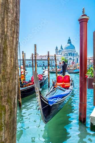 Leinwand Poster Venice touristic attraction Italy
