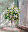 Oil Painting, Impressionism style, texture painting, flower stil - 113064485