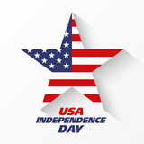 USA Independence Day banner or poster design template