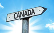 Canada direction sign in a concept image