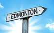 Edmonton direction sign in a concept image