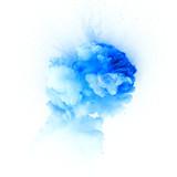 Blue explosion isolated on white background - 113114282