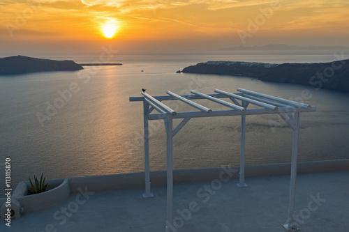 Zdjęcia na płótnie, fototapety, obrazy : Amazing Sunset landscape in town of imerovigli, Santorini island, Thira, Cyclades, Greece